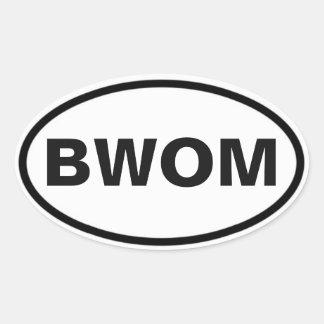 Sticker Ovale Signe d'international de BWOM