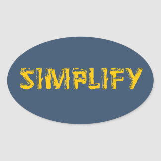 Sticker Ovale Simplifiez