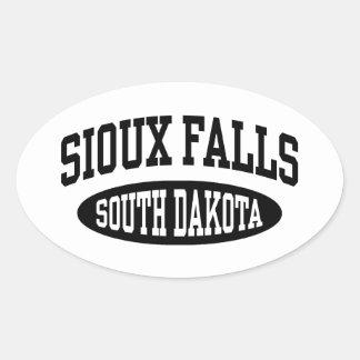 Sticker Ovale Sioux Falls le Dakota du Sud
