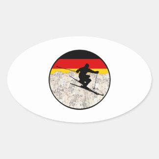Sticker Ovale Ski Allemagne