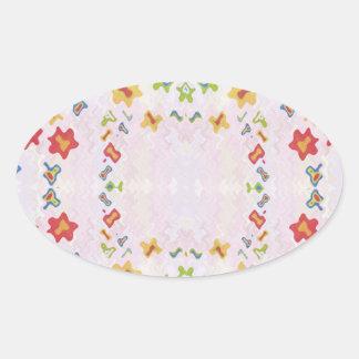 Sticker Ovale Sourires de bébé : Graphiques de DIAMANT