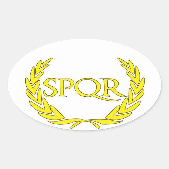 Sticker Ovale SPQR Roma