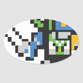 Sticker Ovale Stackitron