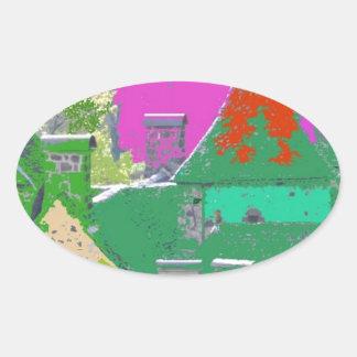 Sticker Ovale stvincent-couleurs aleatoires