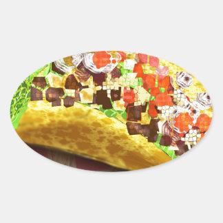 Sticker Ovale Taco de pixel