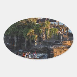 Sticker Ovale Tanah-Sort Bali Indonésie