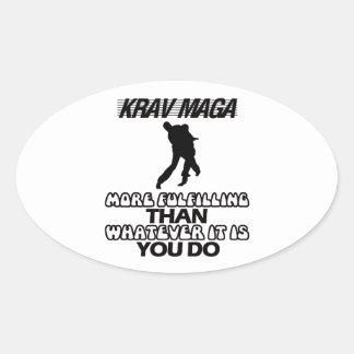 Sticker Ovale Tendre des CONCEPTIONS de Krav Maga