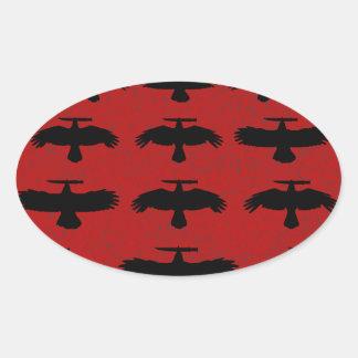 Sticker Ovale Tentative de meurtre - escadron des corneilles