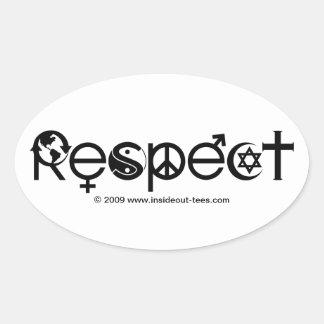 Sticker Ovale Terre de respect - réutilisez les économies la