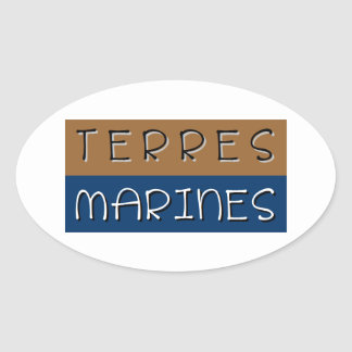 Sticker Ovale Terres marines