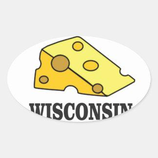 Sticker Ovale Tête de fromage du Wisconsin