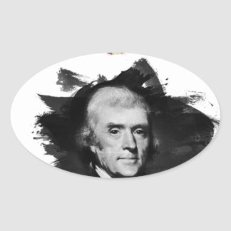 Sticker Ovale Thomas Jefferson