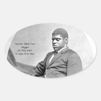 "Sticker Ovale Thomas ""Tom aveugle"" Wiggins, 1860"