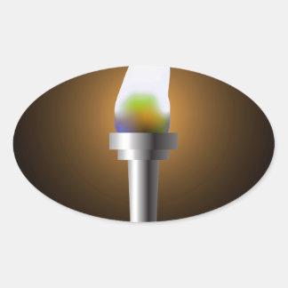 Sticker Ovale Torche