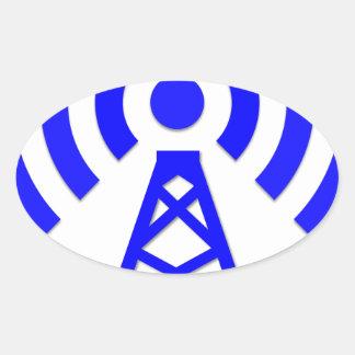 Sticker Ovale Tour de réseau
