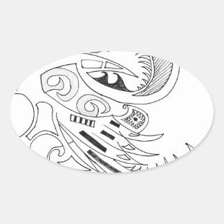 Sticker Ovale Tribal libre