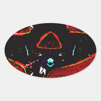 Sticker Ovale Tripy Jack