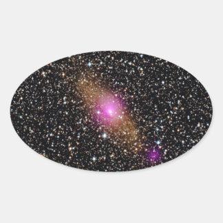Sticker Ovale trou noir