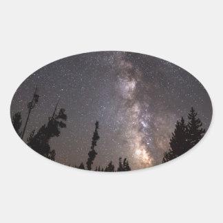 Sticker Ovale Une expérience céleste