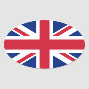 Sticker Ovale Union Jack britannique