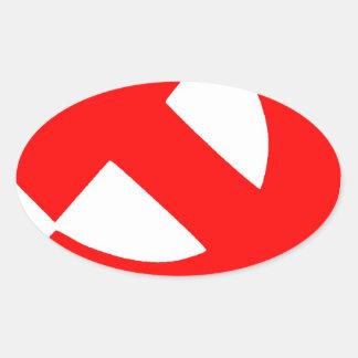 Sticker Ovale Union Soviétique primitive CCCP de marteau et de