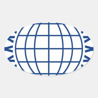 Sticker Ovale Unissez autour du monde