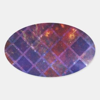 Sticker Ovale Univers de bloc