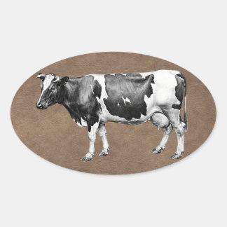 Sticker Ovale Vache laitière