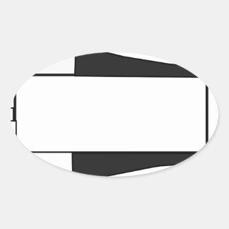 Sticker Ovale Vaisseau spatial