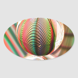 Sticker Ovale Variation sur le thème