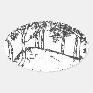 Sticker Ovale Verger d'Aspen