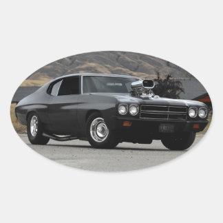 Sticker Ovale Voiture 1970 de muscle d'entrave de Chevy Chevelle