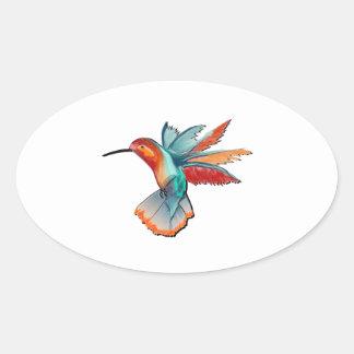 Sticker Ovale Vol de l'élégance