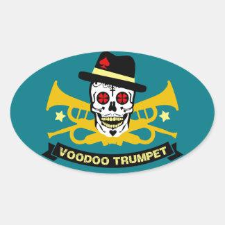 Sticker Ovale voodo trompette