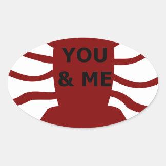Sticker Ovale Vous et moi êtes des homards