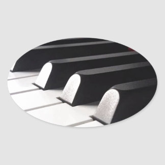 Sticker Ovale Vue de piano
