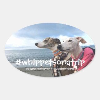 Sticker Ovale #whippetsonatrip dans WA