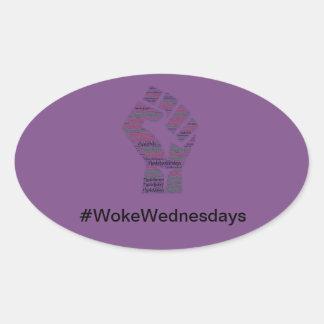 Sticker Ovale #WokeWednesdays