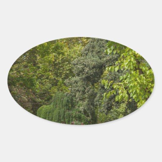 Sticker Ovale zen garden