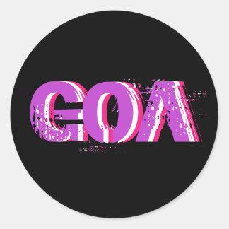 Sticker Psychédélique Goa 1