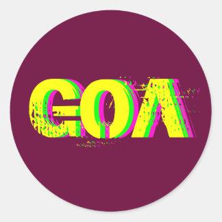 Sticker Psychédélique Goa 2