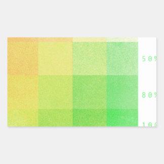 Sticker Rectangulaire 100% (vert et ocre)
