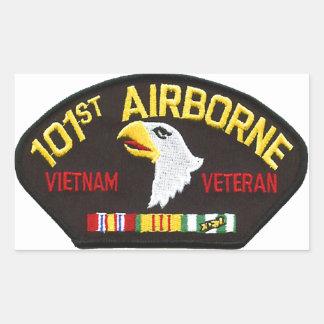 Sticker Rectangulaire 101st Vétéran aéroporté du Vietnam