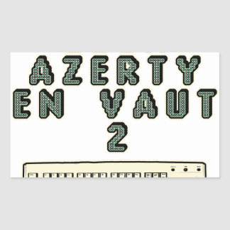 Sticker Rectangulaire 1 GEEK AZERY en vaut 2 - Jeux de motsT
