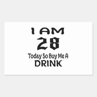 Sticker Rectangulaire 28 achetez-aujourd'hui ainsi moi une boisson