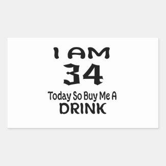 Sticker Rectangulaire 34 achetez-aujourd'hui ainsi moi une boisson