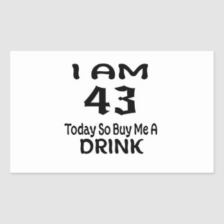 Sticker Rectangulaire 43 achetez-aujourd'hui ainsi moi une boisson