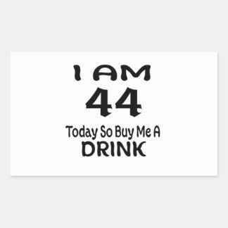 Sticker Rectangulaire 44 achetez-aujourd'hui ainsi moi une boisson