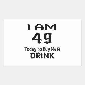 Sticker Rectangulaire 49 achetez-aujourd'hui ainsi moi une boisson
