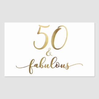 "Sticker Rectangulaire ""50 et"" or fabuleux de Faux, acclamation de"